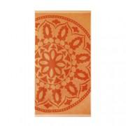 Плажна кърпа - Mедальон оранж
