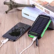 300000mAh Banco De Energía Solar Portátil Con Dos Puertos USB Y 3 Luz Y Pantalla LCD
