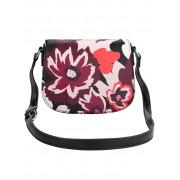 Collezione Alessandro Umhängetasche mit floralem Muster, schwarz