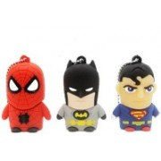 Green Tree Fancy Cartoon Superman,Batman and Spider Man 16 GB Pen Drive(Multicolor)