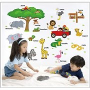 JAAMSO ROYALS cartoon animals wall stickers kids room Wall Sticker for Home Dcor