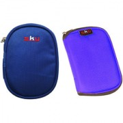 Sky Hard Disk Pouch Combo Nvy Blue With Lite Blue