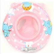 JJOnlineStore - Baby Kids Toddler Boy Girl Inflatable Swimming Swim Ring Float Seat Boat Pool Bath Water Safety Handle (Pink)