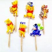 Scobitori pentru Candy Bar cu Winnie the Pooh (set 25 bucăţi)