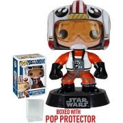 Funko Pop! Star Wars: X-Wing Pilot Luke Skywalker #17 Vinyl Bobble-Head Figure (Bundled with Pop Box Protector CASE)