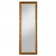Wooden frame mirror Paul with ornaments, gold