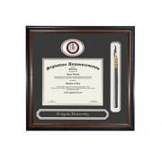 Signature Announcements Colgate University Undergraduate, Graduate/Profesional/Médico esculpido Foil Sello, Nombre y Borla Diploma Marco, 40.6 x 40.6 cm, Mate Caoba