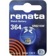 Baterie buton oxid de argint 364, 1,55 V, 20 mAh, Renata