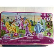 Disney Princess 3 in 1 Panoramic Puzzle (3 Puzzles in 1) - 172 Pieces