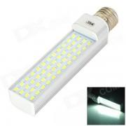 JRLED E27 14W 900lm 6000K 48-5730 Lampara blanca del enchufe horizontal de SMD LED - plata + blanco (CA 85 ~ 265V)