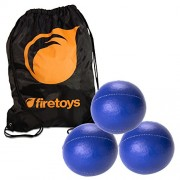 Juggling Ball Set 3x Blue Juggling Balls & Firetoys Bag