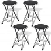 vidaXL Sada skladacích stoličiek 4 ks