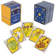 Brybelly American Mahjong Playing Cards - 156-Card Deck for Chinese and Western Game Play, Includes Rules and