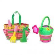 Melissa & Doug Blossom Gardening Set - Colorful and Sturdy, Child-Size