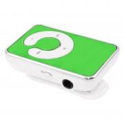 Mini MP3 Player grün mit Ansteck Clip, Kopfhörern & USB Ladekabel