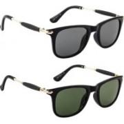 BULL-i Wayfarer Sunglasses(Black, Green)