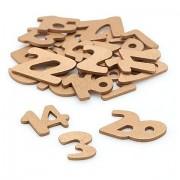 Adventskalender-Zahlen aus Holz, gold, 2 cm