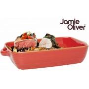 Jamie Oliver Rechthoekige Ovenschaal - 28 x 19 cm - Aardewerk – Hittebestendige Ovenschaal - Geschikt voor de Vaatwasser - Geproduceerd in Portugal - Rood