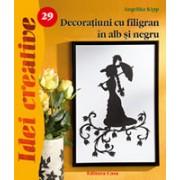 Decoraţiuni cu filigran în alb şi negru - Idei Creative 29.