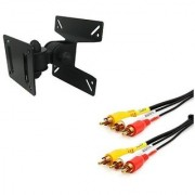 Techvik 2 In 1 combo of Moveable Wall Mount With 3RCA Audio Video Cable