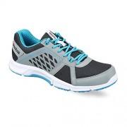 Reebok Men's Edge Quick 2.0 Grey and Sky Blue Running Shoes - 9 UK