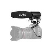 Microfone Boya Shotgun BY-DMR7 com Gravador de Flash Integrado