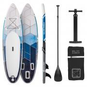 Capital Sports Maliko Runner, надуваем paddleboard, SUP борд комплект, сиво / бял (WTR1-Maliko2020-grey)