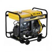 Generator de curent monofazat KIPOR KDE 6500 E, 5.5 kVA, diesel, pornire electrica