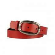 Dámský červený kožený opasek 295