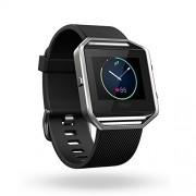 Fitbit Blaze Large Size - умен фитнес часовник с известия и следене на дневната и нощна активност на организма за iOS, Android и Windows Phone (черен)