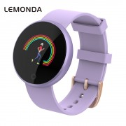 LEMONDA WB36 1.04-inch Screen Fitness Tracker Smart Sports Bracelet Heart Rate Female Physiological Reminder for IOS Android - Purple