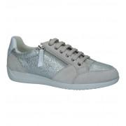 Geox Zilveren Schoenen met Rits/Veter Geox Myria