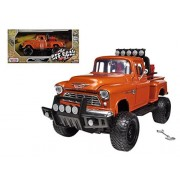 1955 Chevrolet 5100 Stepside Pickup Truck Off Road Orange 1/24 Model by Motormax