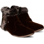 Anand Archies Boots For Women(Brown)