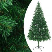 vidaXL Изкуствено коледно дърво, 210 см