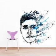 Wall Sticker Men Face Design (Cover Area :- 24 X 24 inch)