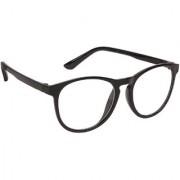 Arzonai Casual Retro Square Black-Transparent UV Protection Sunglasses | Frame For Men & Women (MA-313-S1 )