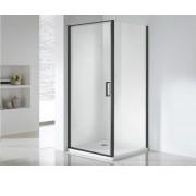 Wellis Quadrum Black sarok zuhanykabin 1 ajtóval 90x90x190cm
