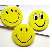 Kids' Badges/ Smiley Emoji Badges/ Party Theme Smiley Badges/ Colourful Expressions Button Pins Badge Brooch, Birthday, Office and Theme Party - Set of 6pc ( Note- Color and Expression May Vary)