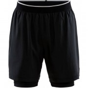 Craft Charge 2-in-1 Short Men - Male - Zwart - Grootte: Medium
