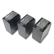 INTENSILO 3x Li-Ion batterie 3300mAh (8.4V) pour Videocaméra caméscope Sony HDR-CX450, HDR-CX625, HDR-PJ620 comme NP-FV100, NP-FV60, NP-FV30.