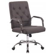 Sedia Ufficio Leroy V2 in Tessuto, grigio scuro CLP, grigio scuro, altezza seduta