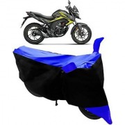 Intenzo Premium Blue and Black Two Wheeler Cover for Honda CB Hornet 160