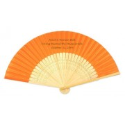 Personalised Silk Wedding Fans - Silk and Bamboo