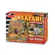 Melissa&Doug - Puzzle de podea Safari 100 piese