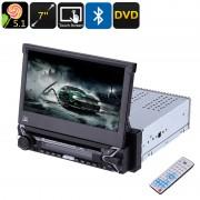 Media Player 7 cu touchscreen DVD, MP3, MP4, bluetooth, 1DIN, COD:9505 ManiaCars