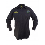 NRL Raiders L/S Work Shirt - Navy 4XL