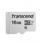 Micro SDHC card (16GB class 10) Transcend 300S speed up to 95 MB/s