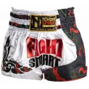 Nihon kickboks broek Thai Fight Smart heren wit maat M