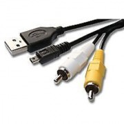 USB AV CABLE FOR NIKON CoolPix S4000 S3000 S1100
